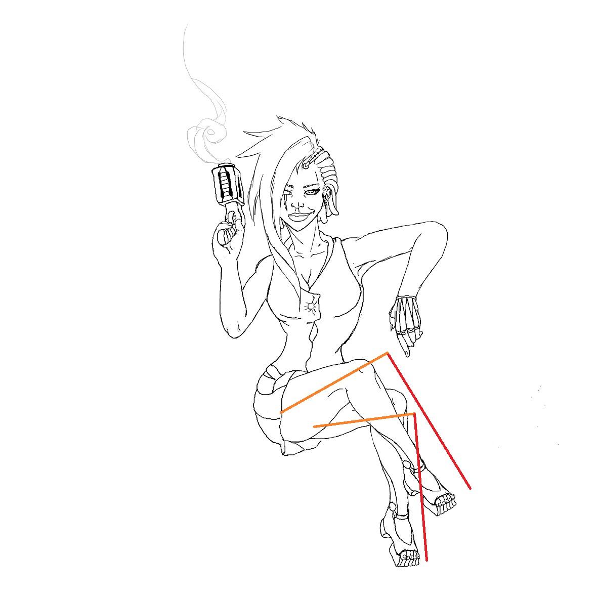 J'aimerais colorer une line propre avec du crayon aquarellable sec pour m'entraîner [noony4] 670531Sanstitre17558