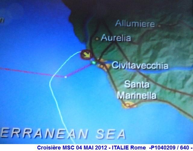 MSC Splendida Du 28 avril au 5 mai 2012 Gêne Barcelone Tunis La valette Taormine Messine Rome 675476P1040209