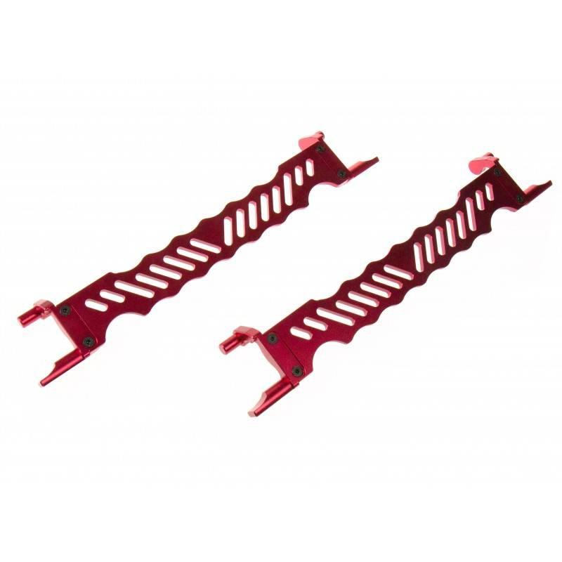GPM Racing propose des pièces en aluminium / bielette de servo / pignon moteur 679479gpmsupportdebatteriealurougex2txm0126r
