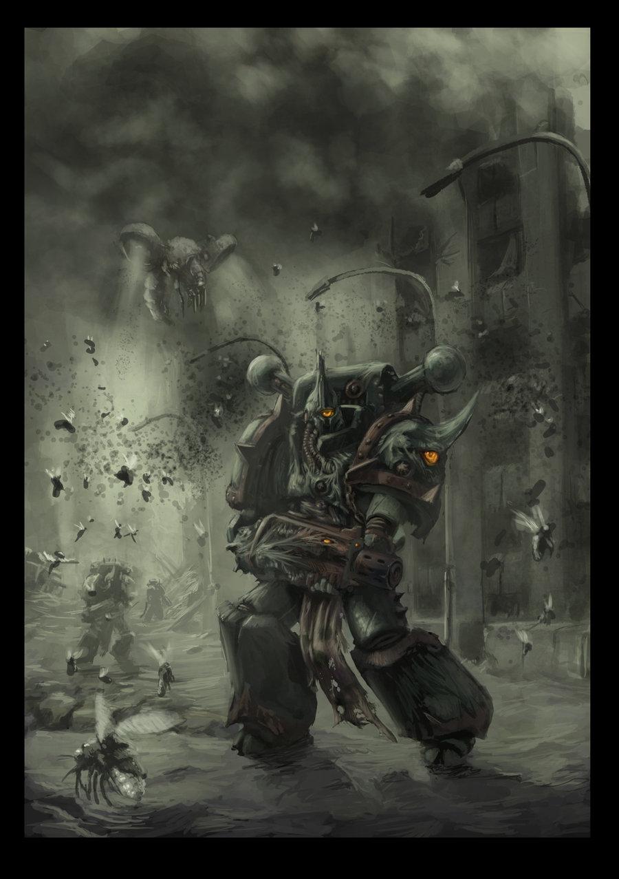 [W40K] Illustrations du Chaos - Page 2 687378chaosspacemarineplaguemarine2byjutamid4ganlu