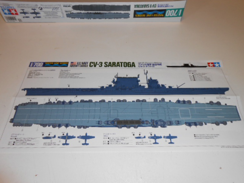Le Saratoga 1/700 Tamiya pont en bois + PE 693533012