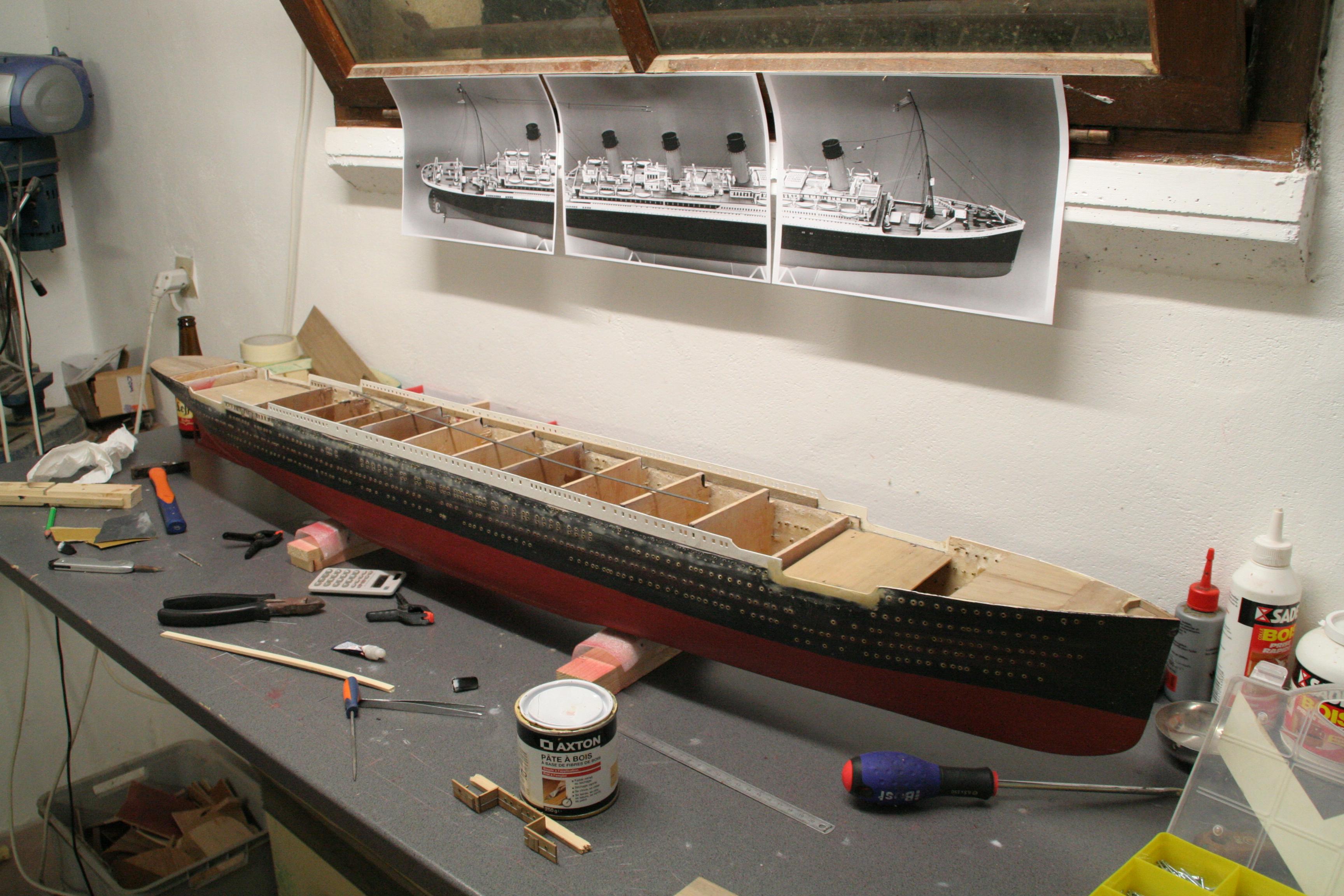 RMS Titanic sur plan   au 1/200 7001548827