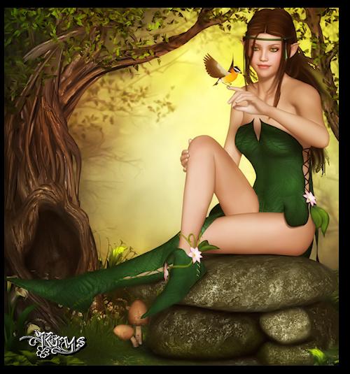 L'Elfe de la forêt  d'Emrod 713751Krystubes139659368383gros