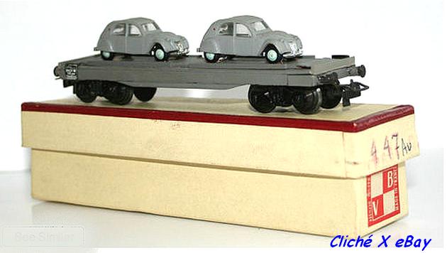 Wagons plats à bogies maquette et semi maquette chargés 713816VB4472CV
