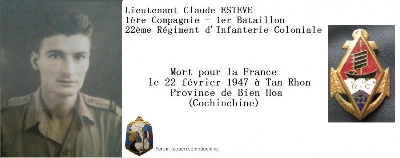 Lieutenant Claude ESTEVE - 22ème RIC - MPLF 1947 724370IMG8140