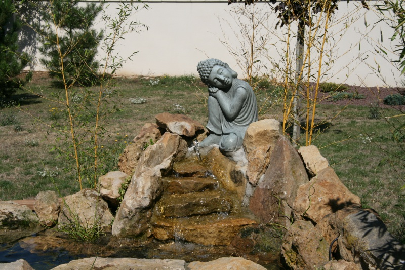 bassin 5/6 m3 semi enterré avec cascade et déversoir 725729IMG2986
