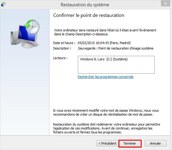Restaurer son pc avec la sauvegarde image Windows 8.1 726094restaurationimageW816