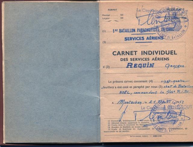 14ème Régiment d' Infanterie Parachutiste de Choc 72867964CarnetservicesAriens1952tampon1erChoc