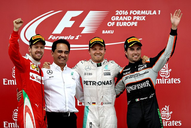 F1 GP d'Europe à Bakou 2016 : Victoire de Nico Rosberg 7294002016courseVettelRosbergPerez