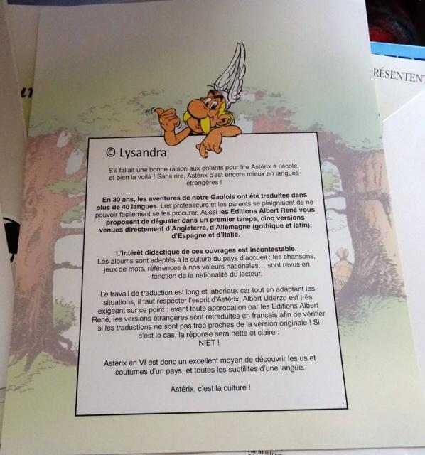 Dossier presse Astérix en langues étrangères 730187DP5