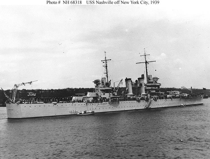 USN CROISEUR LOURD USS WICHITA 735085USSNashville1939