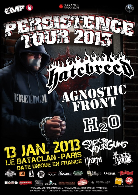 13.01 - Hatebreed + Agnostic Front + ... @ Paris 738756PERSISTENCE2013