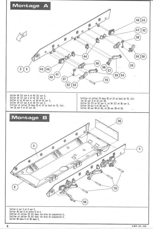 AMX 30 canon de 105 - (Réf. L810) 1/35 742106HellerAMX30105810004