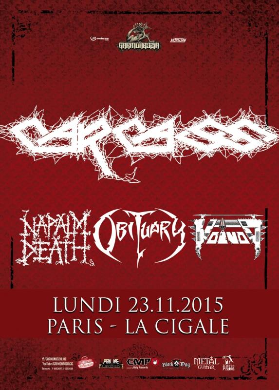 23.11 - Carcass + Obituary + Napalm Death + Voivod @ Paris 74356120151123carcassweb