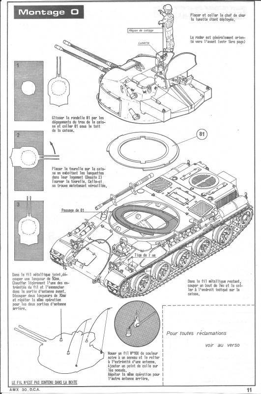 AMX 30 DCA - (Réf. L811) 1/35 746582HellerAMX30DCA811011
