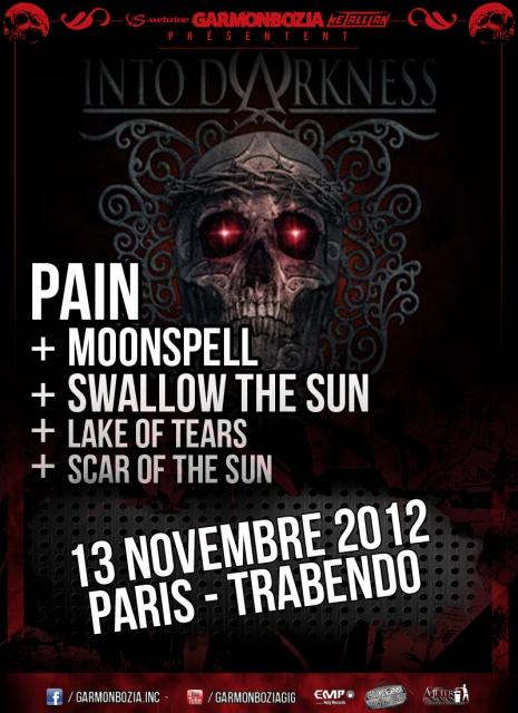 13.11 - Pain + Moonspell + Swallow the Sun + ... @ Paris 748380pain20121113