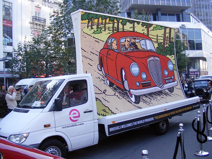 """Bruxelles côté BD  """"Tintin en automobile"""" 749593DSCF6146"""
