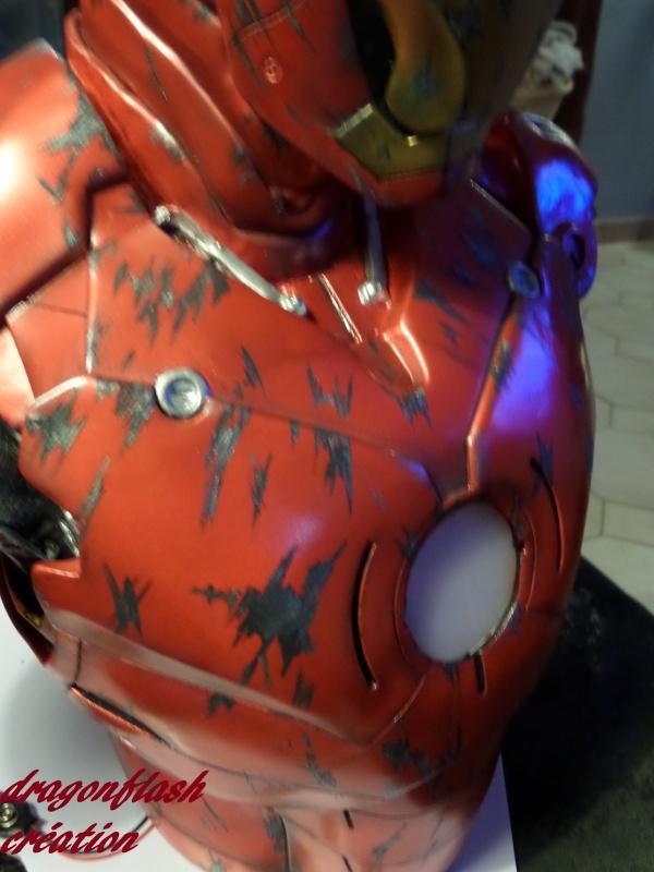 dragonflash création : buste iron man 1/2  (+-40 cm de haut) le final 7522037745