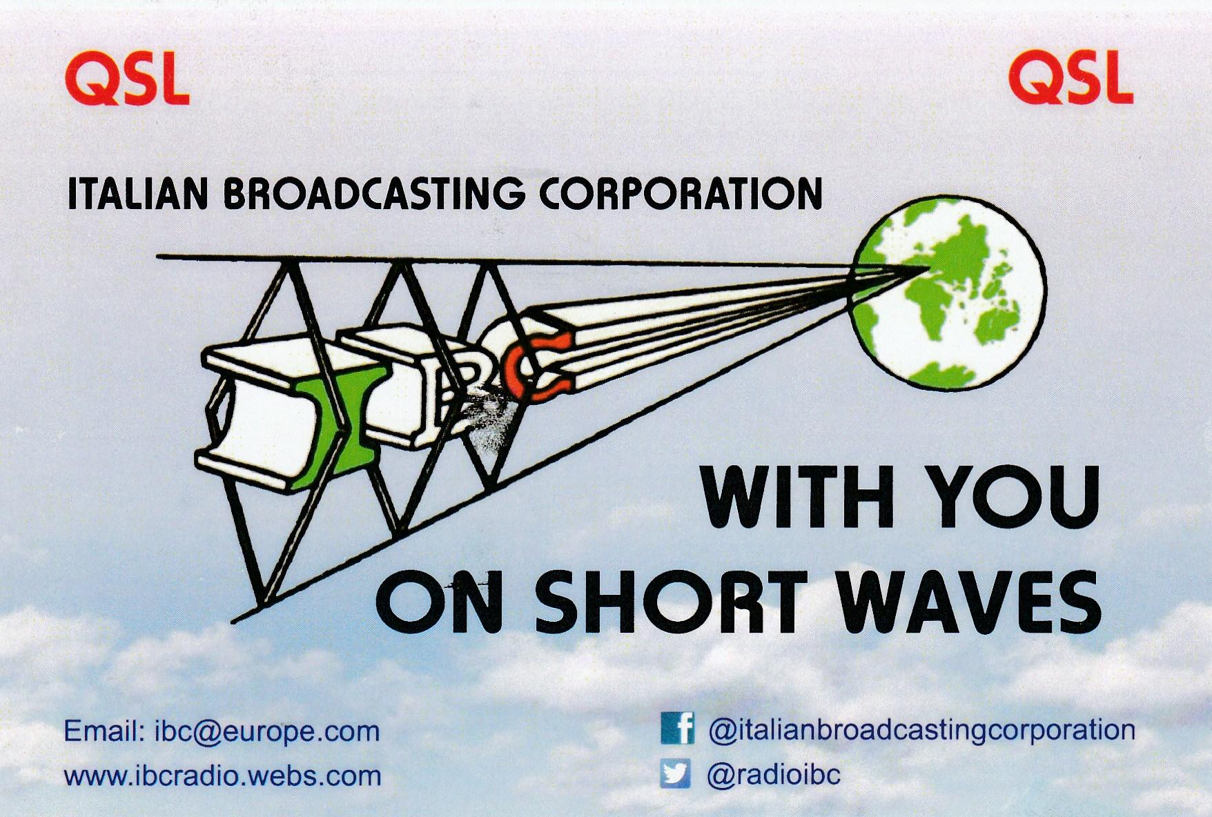 QSL IBC Italian Broadcasting Corporation 754903IMG201701030005