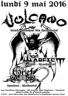 [Toulouse - 09-05-2016] VULCANO + WARFECT + THE GRIEF 757102affiche09051620ko