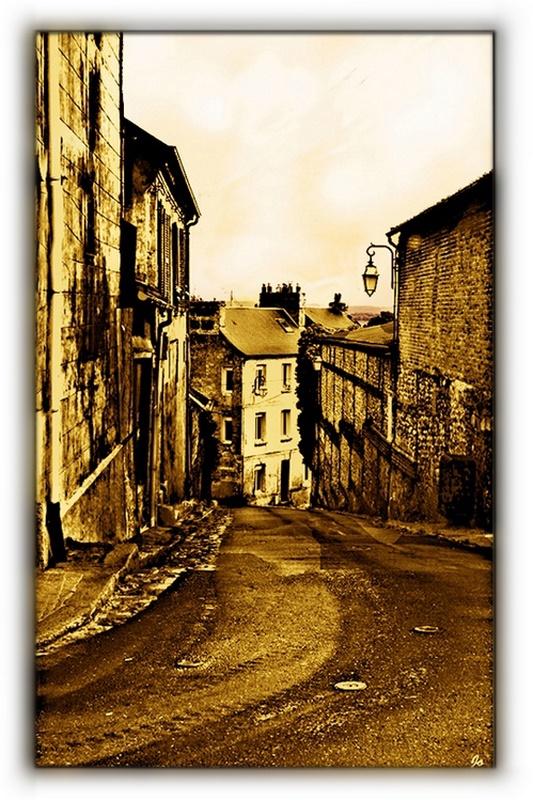 Une ruelle à  Honfleur sépia 757502DSC2440Honfleurspia1
