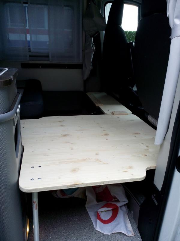 Modification lit dinette adria twin sp presque 4 couchages adultes - Mousse pour lit camping car ...