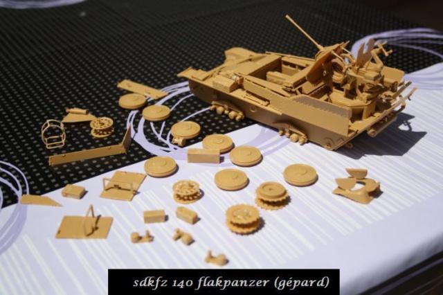sd.kfz 140 flakpanzer (gépard) maquette Tristar 1/35 775807IMG1628