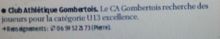 ETOILE SPORTIVE GOMBERTOISE /CHATEAU et CAG club athletique gombertois /PHA PROVENCE  - Page 2 783256P1220307