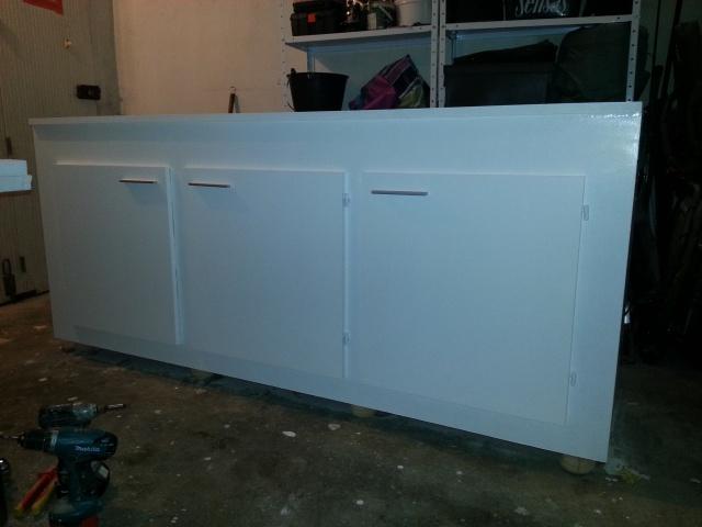Construction d'un meuble en Chevrons de 8x8 pour bac 200cm 785668IMG20131229003703