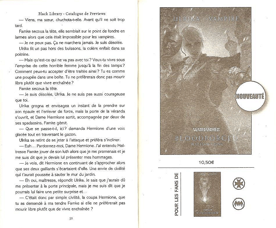 Trilogie Ulrika la Vampire : Bloodborn / Bloodforged / Bloodsworn de Nathan Long 787391blood2