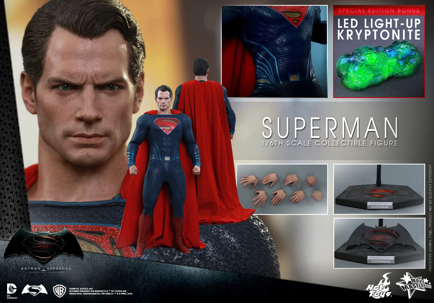 HOT TOYS - BvS : Dawn Of Justice - Superman 793004114