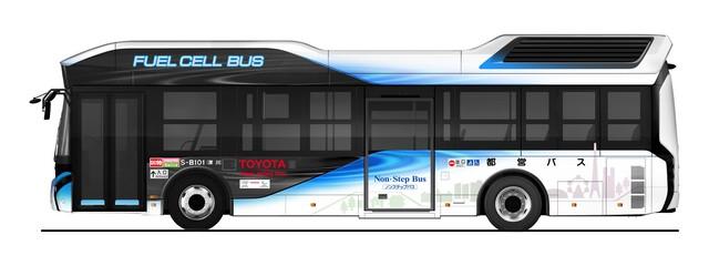 Toyota Livre Un Bus À Hydrogène Au Gouvernement Métropolitain De Tokyo 794811201702240102