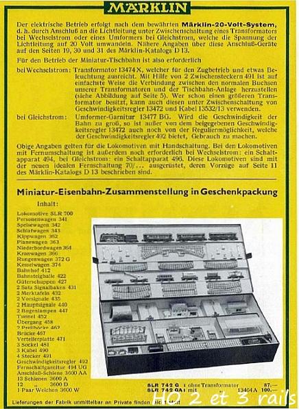 Coffrets Märklin 1936 - 1968 (rouges, noirs, verts ou bleus) 795067MarklincoffretSLR742G4R