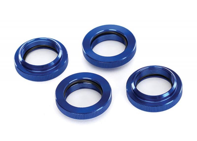 Bouchons d' amortisseurs en aluminium et bagues de ressort anodisé bleu 7964067767