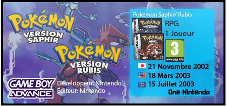 Pokémon Saphir / Rubis | GBA 802148rs