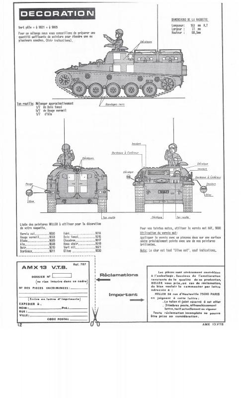 AMX 13 VTB - (Réf. L787) 1/35 803938VTB012