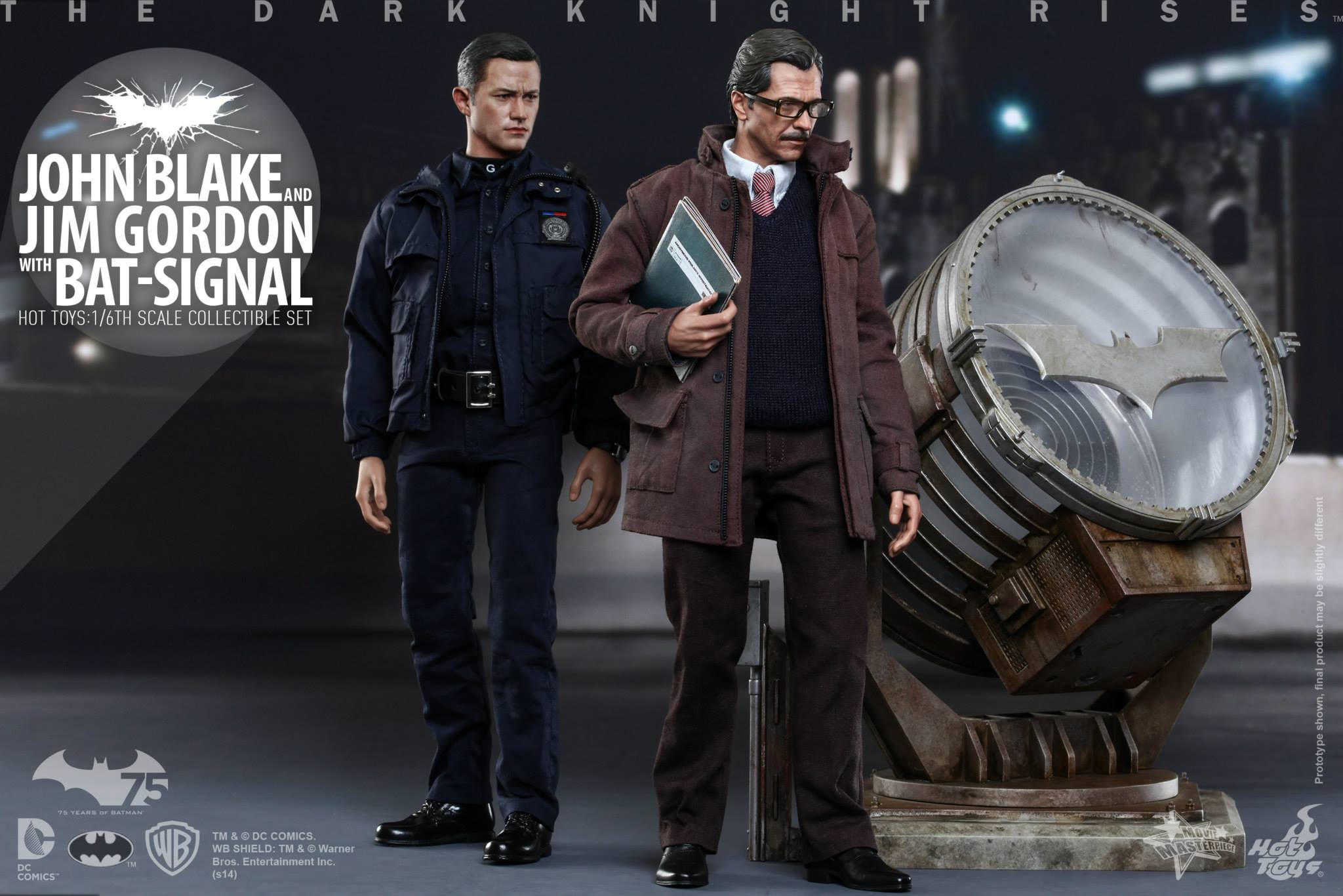 THE DARK KNIGHT RISES - Lt. JIM GORDON & JOHN BLAKE w/BATSIGNAL 806915103