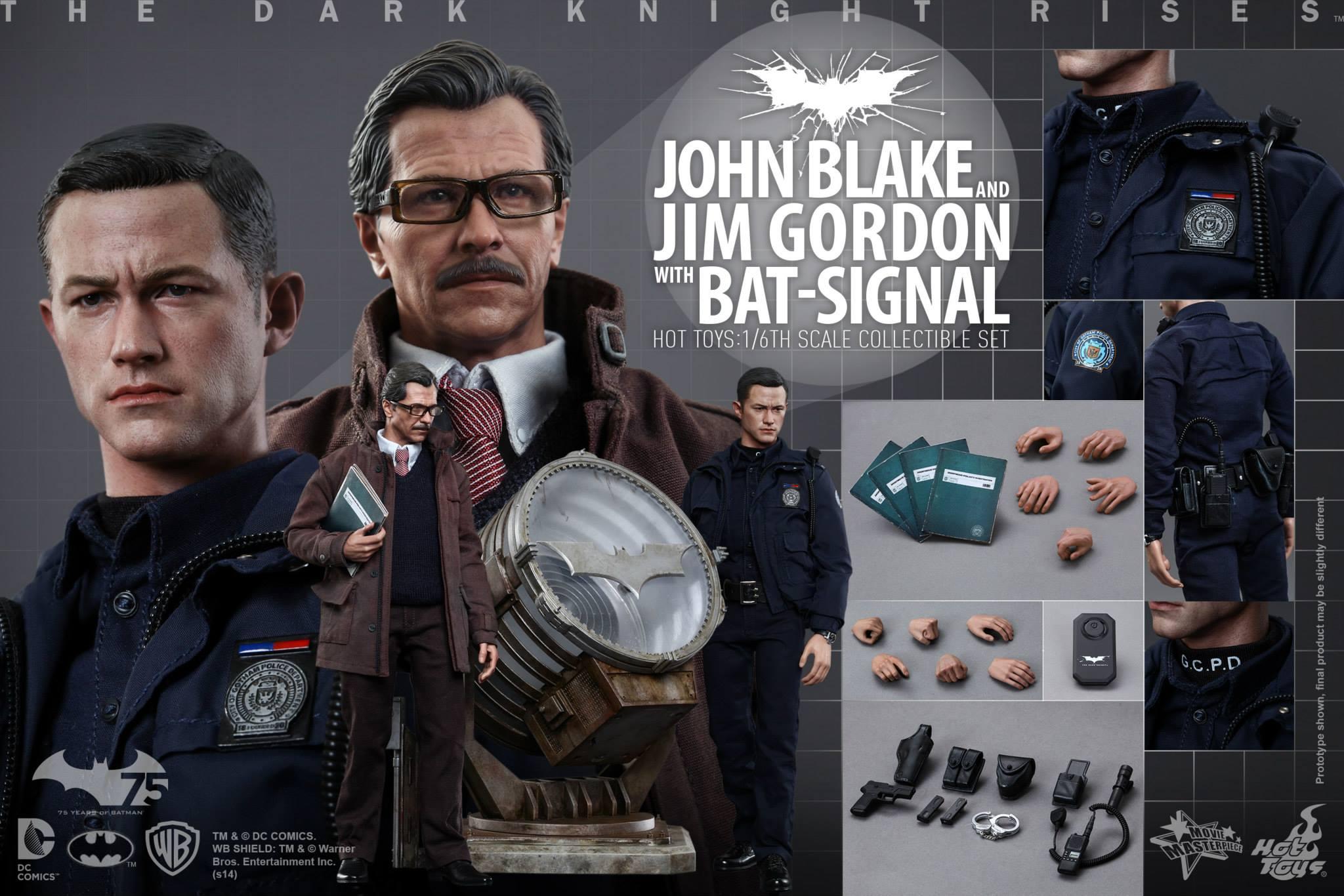 THE DARK KNIGHT RISES - Lt. JIM GORDON & JOHN BLAKE w/BATSIGNAL 807825110