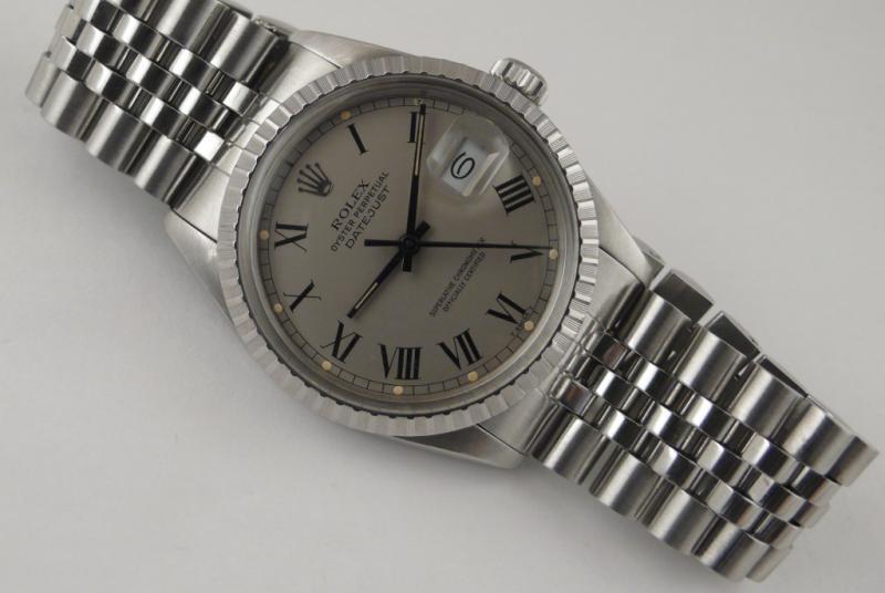 "[VENDUE] Rolex Datejust 16030 Rare ""Grey Buckley Dial"" 1985/86 - 2200€ 809004L1380334"