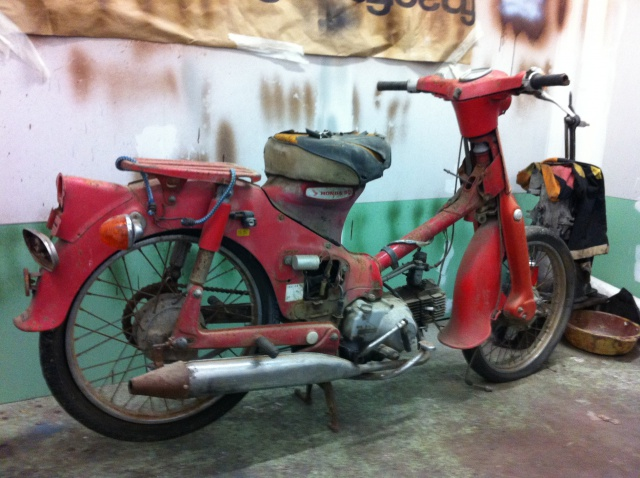 honda c50 bratstyle 809100photo8