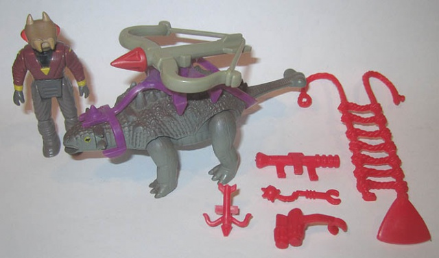 Les jouets DINO-RIDERS ( dinoriders ) - IDEAL 813104AnkylosaurusComp2a
