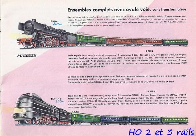 Coffrets Märklin 1936 - 1968 (rouges, noirs, verts ou bleus) 815124Marklincatalogue19564R