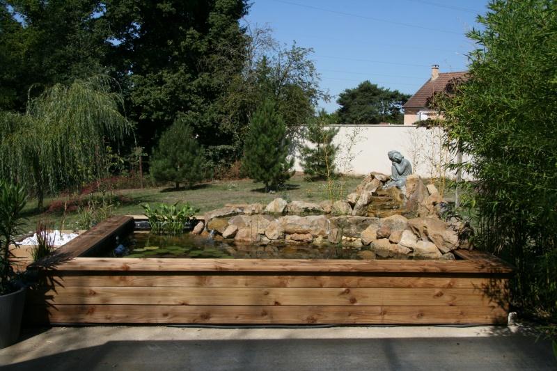 bassin 5/6 m3 semi enterré avec cascade et déversoir 816706IMG2981