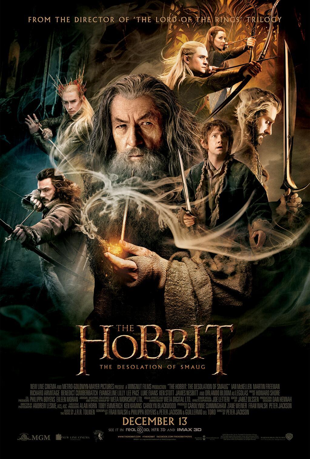 Le Hobbit: la désolation de Smaug - Peter Jackson 818773TheHobbitTheDesolationofSmaugPoster