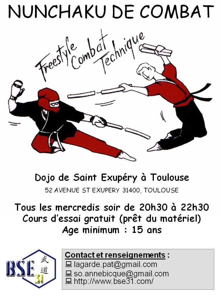 NUNCHAKU DE COMBAT - Dojo de Saint Exupéry à TOULOUSE 823495AFFICHEnunchaku
