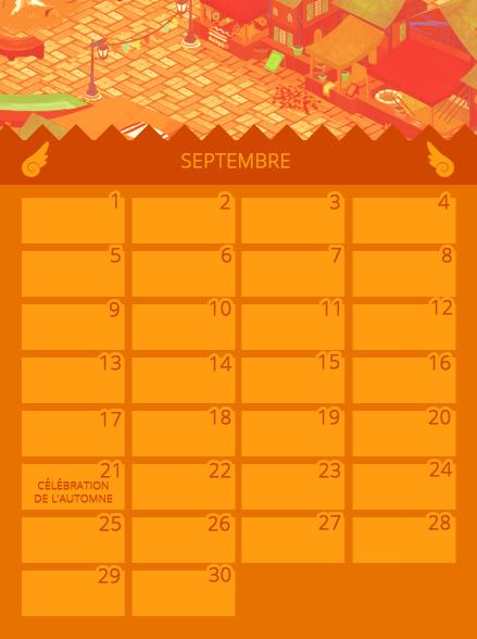 Calendrier de Septembre 841277septembre