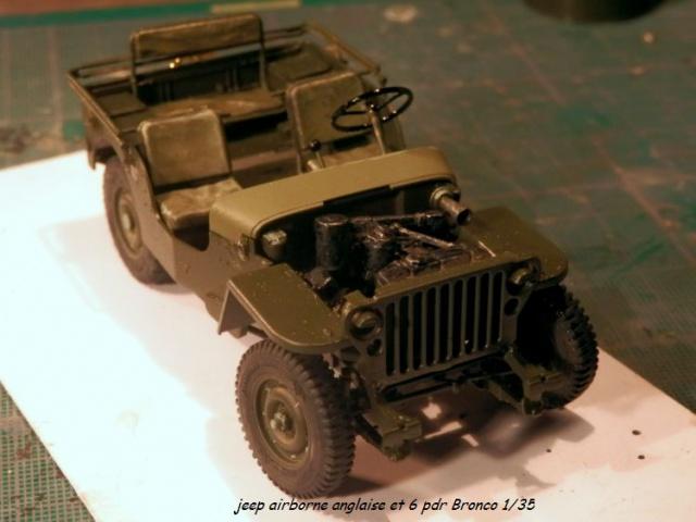 6 pdr ,jeep ,équipage airborne Bronco 1/35 (sur la route de Ouistreham) 842059P5030426