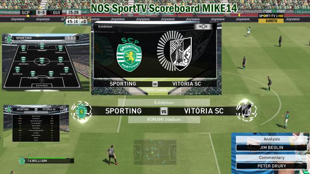 NOS Sport TV Scoreboard V1 Mike14 842524PES20162015100701241901