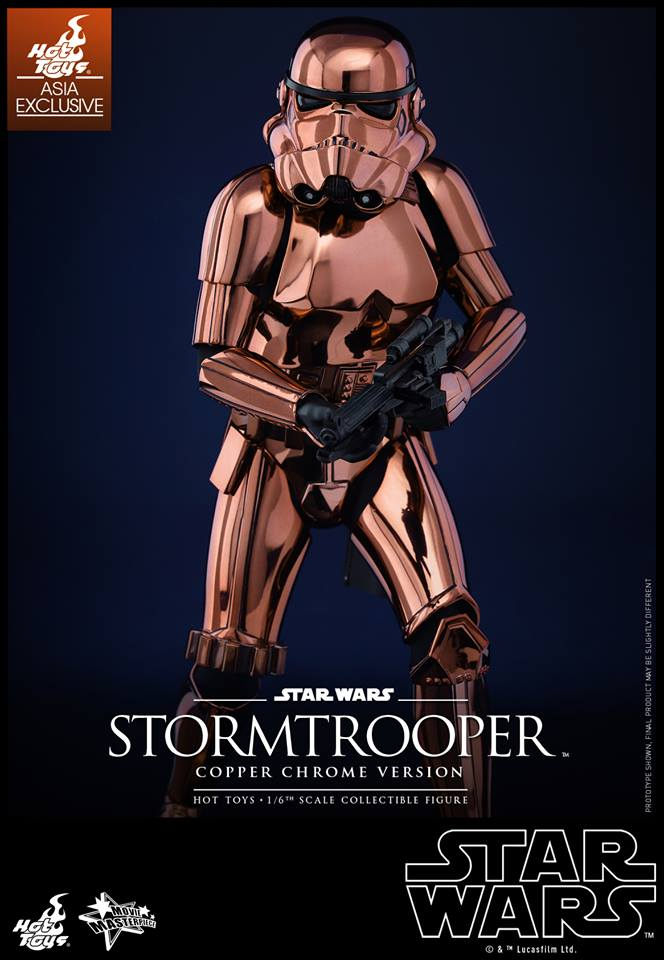 HOT TOYS - Star Wars: TFA - Stormtrooper Copper Chrome 844734105