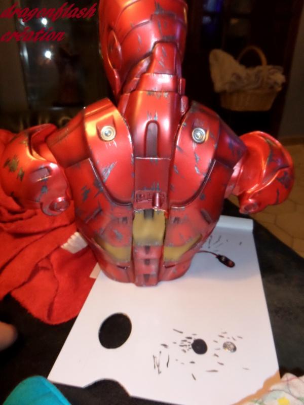 dragonflash création : buste iron man 1/2  (+-40 cm de haut) le final 8450885547